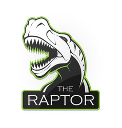 head of dinosaur on a white background vector image