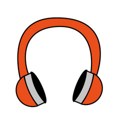 Headset music isolated icon vector