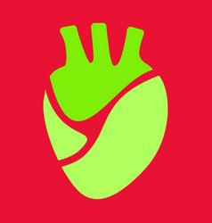 Heart icon world medicine in flatstyle vector