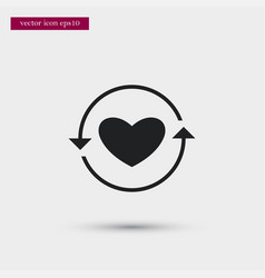 heart in arrows icon simple love valentine sign vector image