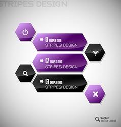 Hexagon Design vector image