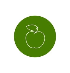 Icon Apple in the Contours vector image
