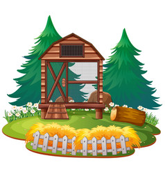 Isolated cage in zoo vector