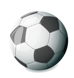 Isolated football ball sport icon vector