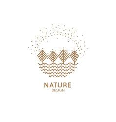 logo winter sun vector image