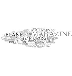 Magazines word cloud concept vector