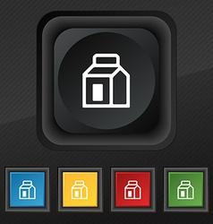 Milk Juice Beverages Carton Package icon symbol vector