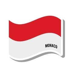 monaco patriotic flag isolated icon vector image