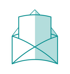 Monocromatic envelope design vector