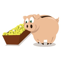 Mr pig dinner vector