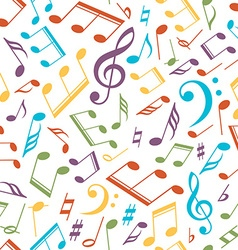musical pattern with notes vector image