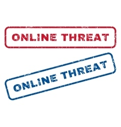 Online Threat Rubber Stamps vector