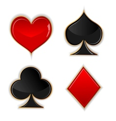 Poker glass button vector image