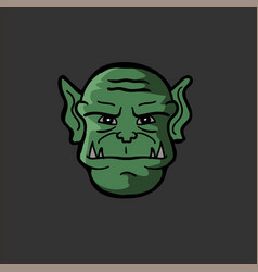 Portrait of an orc in a vector
