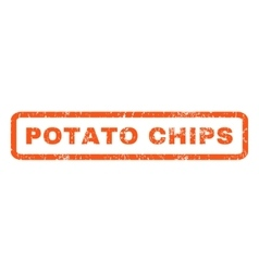 Potato Chips Rubber Stamp vector image