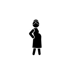 pregnant icon black on white background vector image