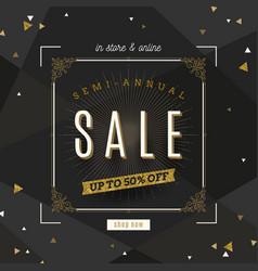 retro style sale banner vector image