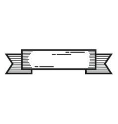 Ribbon elegant label icon vector