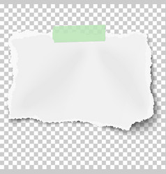 ripped square paper scrap with soft shadow vector image
