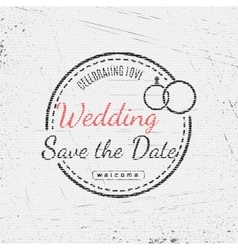 Save the date badges cards and labels for any use vector image