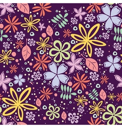 Seamless floral pattern with a lot of little vector