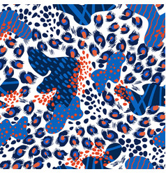 Seamless leopard skin pattern with abstract vector