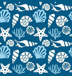 seamless pattern with marine animals underwater vector image