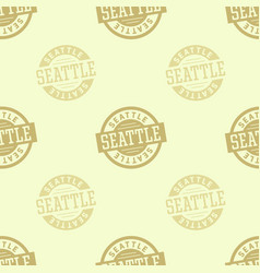 seattle seamless pattern vector image