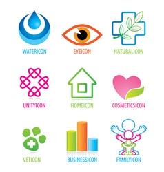 Set icon vector