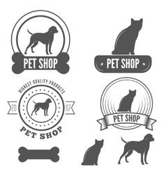 set vintage badge emblem and label elements vector image