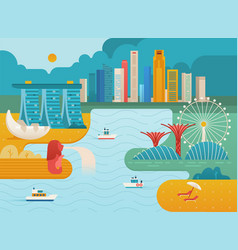 Singapore city skyline vector