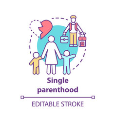 single parenthood concept icon marital disputes vector image