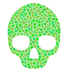 Skull collage of dots vector