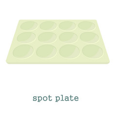 Spot plate icon cartoon style vector