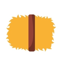 Straw block isolated icon design vector