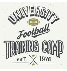 University football training camp t-shirt vector