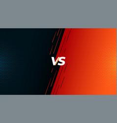 Versus vs fight battle screen background design vector