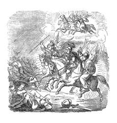 vintage drawing biblical story warrior vector image
