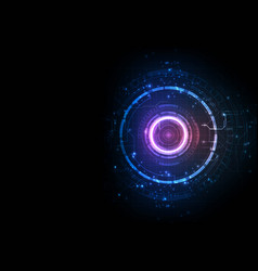 violet light color futuristic game circuit vector image