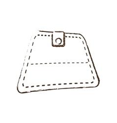 wallet save money icon sketch vector image
