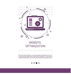 Web optimization software development computer vector