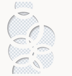 white paper circles background vector image