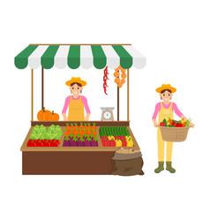 woman and farmer icons set vector image