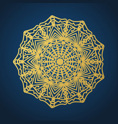 yoga ornamental gold emblems biljna arabeska and vector image