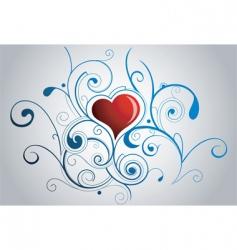 fairytale heart vector image vector image