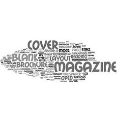 Magazine word cloud concept vector