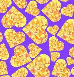 Polygonal Heart Wireframe mesh polygonal element vector image vector image