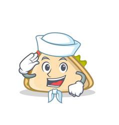 sailor sandwich character cartoon style vector image vector image