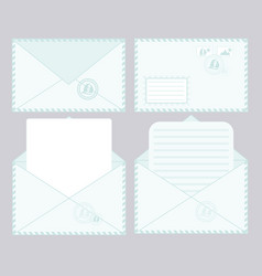 set of closed and open envelopes vector image vector image