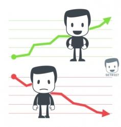 chart icon man vector image